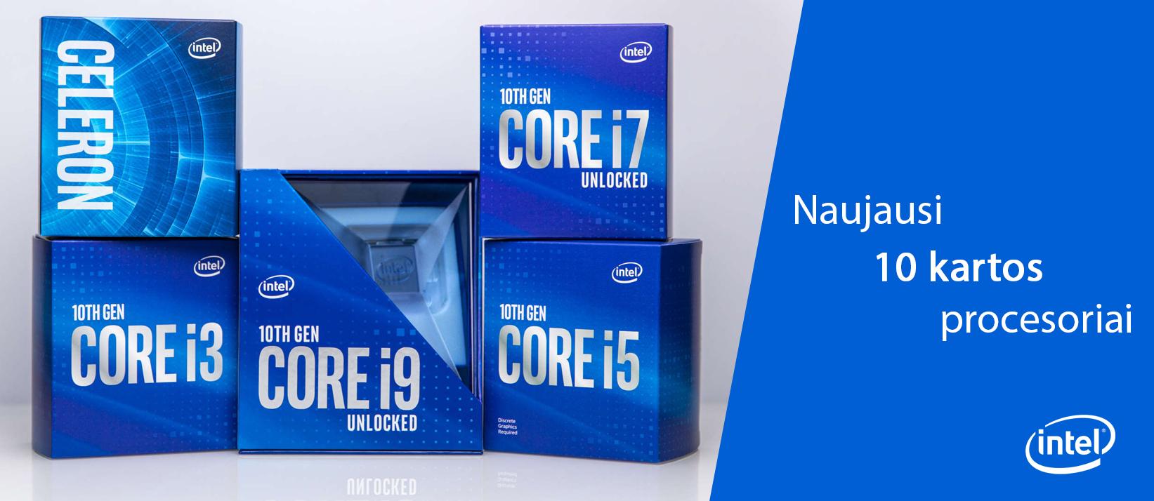Naujieji 10 kartos Intel® procesoriai